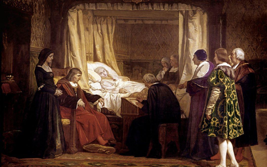 Doña Isabel la Católica dictando su testamento.