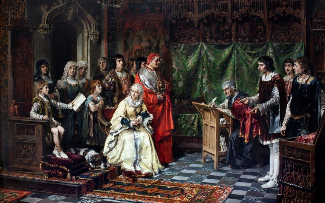"""#ReinaelArte: """"La educación del Príncipe don Juan"""". Salvador Martínez Cubells. 1877, Palacio del Senado."""