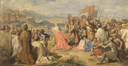 """#ReinaelArte: """"Granada, Granada, por los Reyes Don Fernando y Doña Isabel"""". Carlos Luis Ribera. 1889, Ayuntamiento de Granada."""